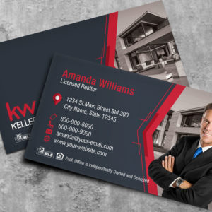 Keller Williams Business Card Template – BC18027-KW