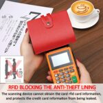 RFID Credit Card Holder, Leather Business Card and Credit Card Organizer with Driver's License, Credit Card Protector